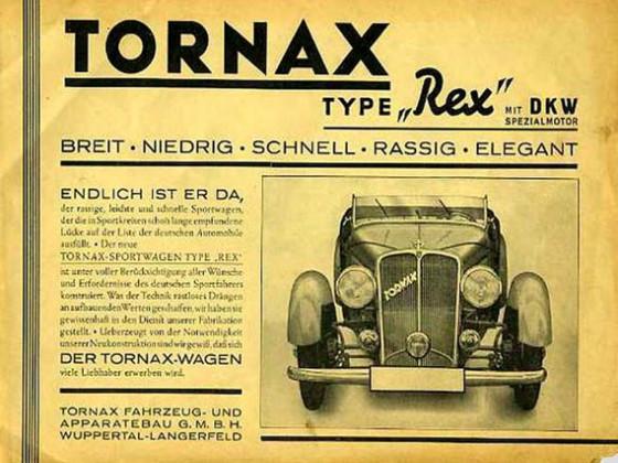 Werbung für Tornax