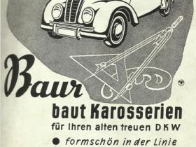 Werbung für Baur Karosserien