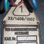Karosseriebeschriftung MEKAWE 1955
